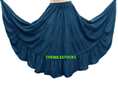 Orchid TMS 4 Tiered Skirts Belly Dance Penal Gypsy Flamenco 25 Color Instock