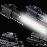 Tactical Green/red Laser Sight & Led Flashlight Combo Quick 20mm Rail Kit