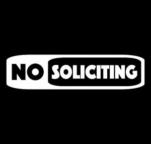 No-Soliciting-with-Border-Vinyl-Decal-Sticker-Car-Truck-Window