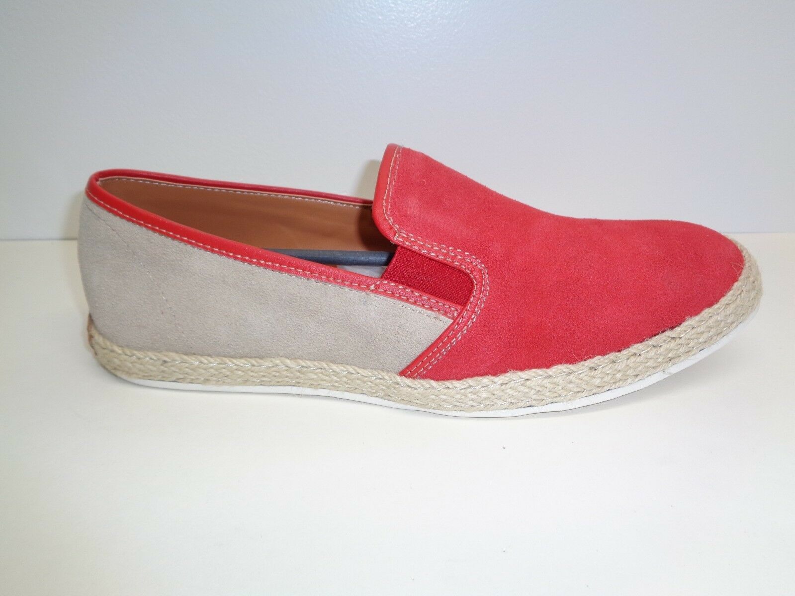 Steve Madden Size 10 M HAMOCK Rosso Suede Slip On Loafers New Uomo Shoes