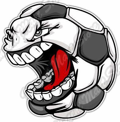 3/'/' or 5/'/' Cartoon Ecuador Flag Soccer Ball Mascot Car Bumper Sticker Decal
