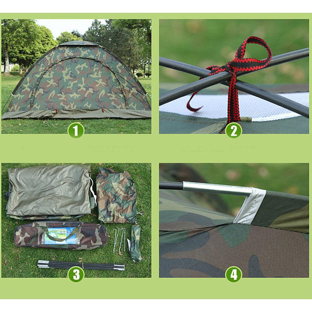Doppelzelt Camping Wurfzelt Wasserdicht Camouflage Trekking Zelt