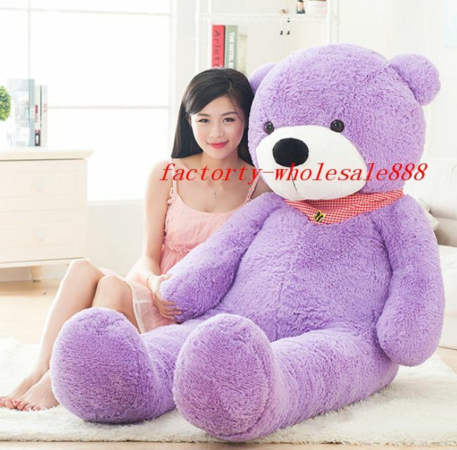 72'' Giant Big Teddy Bear Stuffed Animals Plush Soft Toy Doll Pillow Gift viola