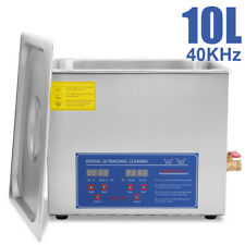 Hfsrcommercial Grade Digital Ultrasonic Cleaner Stainless Steel 10l Capacity