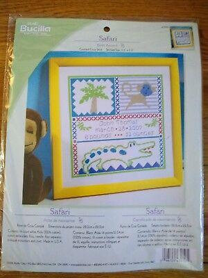 "Bucilla Counted Cross Stitch Kit 11.5/"" x 11.5/"" Birth Record /""Deep Blue Sea/"" Baby"