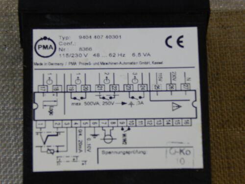 PMA GmbH Universalregler KS30 Typ 9404 407 40301 used