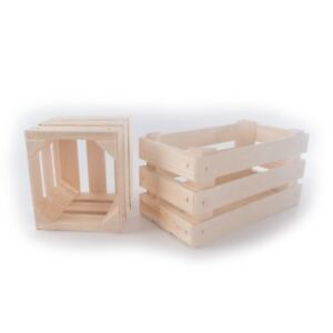 Details About Small Wooden Crates Square Or Rectangular Display Shelf Retail Box Craft Diy
