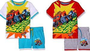Characters Sleeveless  2 3 4 5 6 8YRS Kids Boys T.shirt+Shorts Set,BLAZE,TURTLE