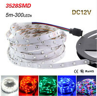 5M 16ft 300 LEDs SMD 3528 Flexible Led Strip Light Waterproof IP65 / IP20 DC 12V