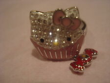 SWAROVSKI HELLO KITTY CUPCAKE RING CRYSTAL SIZE 6 NEW