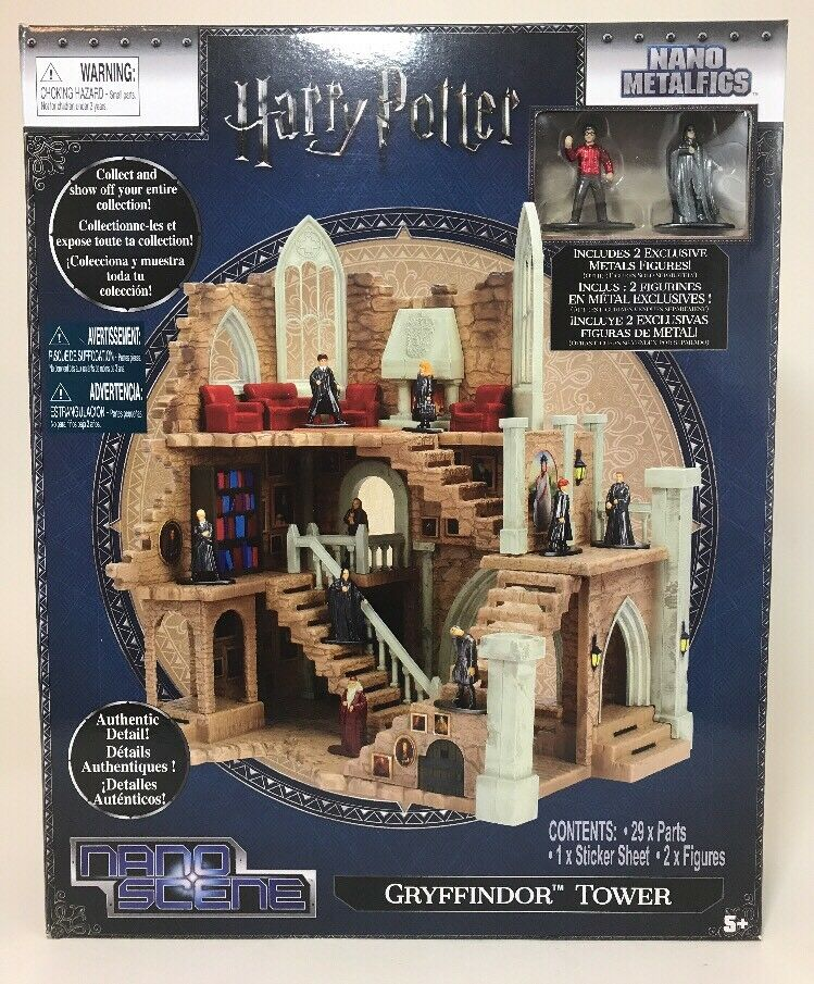 Harry Potter Nano Scene Metalfigs Gryffindor Tower Includes 2 Figures Play Set