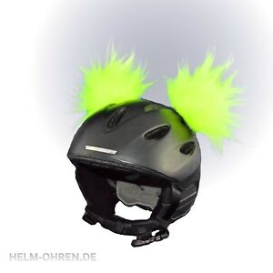 Helmohren /Plüschohren/ Ohren/ Deko f. d. Helm/ Skihelm/ Snowboardhelm Neon Gelb