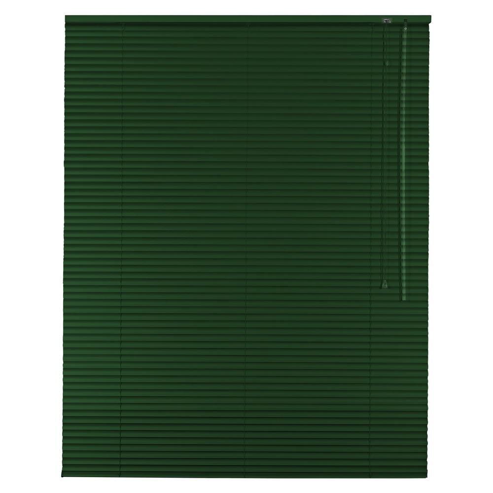 Aluminium Jalousie Alu Jalousette Jalusie Fenster Rollo - Höhe 230 cm dunkelgrün