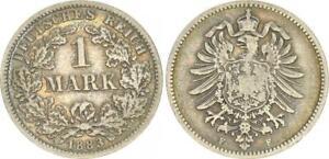 Alemania/Imperio 1 Marco 1883 más Pequeño Águila J. 9 S-Ss 45771