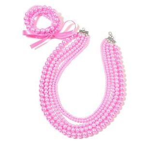 VertrauenswüRdig Matt Rosa Labor Erstellt Perlen Drapieren LÄtzchen Halskette 5 Stretch ArmbÄnder Gute WäRmeerhaltung