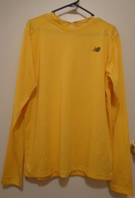 New Balance Dry Long Sleeve Men's Shirt Yellow Color Size L