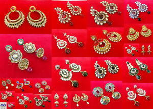 Indian-Bollywood-Ethnic-Gold-Plated-Party-Wear-Pearl-Cz-Jhumki-Jhumka-Earrings-k