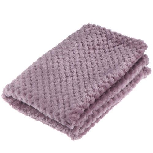 45 x 65cm Soft Plaid Fleece Bed Blanket Mesh Flannel Blankets Thick Breatyu