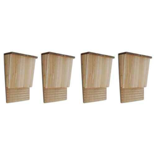 vidaXL 4x Bat Houses 8.7x4.7x13.4 Wood Outdoor Garden Habitat Box Station