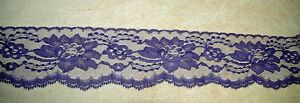 10 Yards PURPLE 3 Inch In Wide Lace NEW