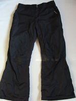 Women's Snow Pants Size Xl Zero Xposur Black Fleece Lined Winter X-large