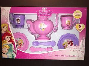 Disney Royal Princess Girls Tea Party Set for 2. 8 PIECE SET. BRAND-NEW.