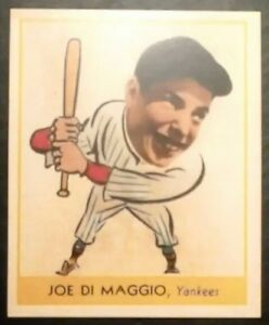 Details About 1938 Goudey Joe Dimaggio 250 Reprint Rookie Cardny Yankeesfree Shipping