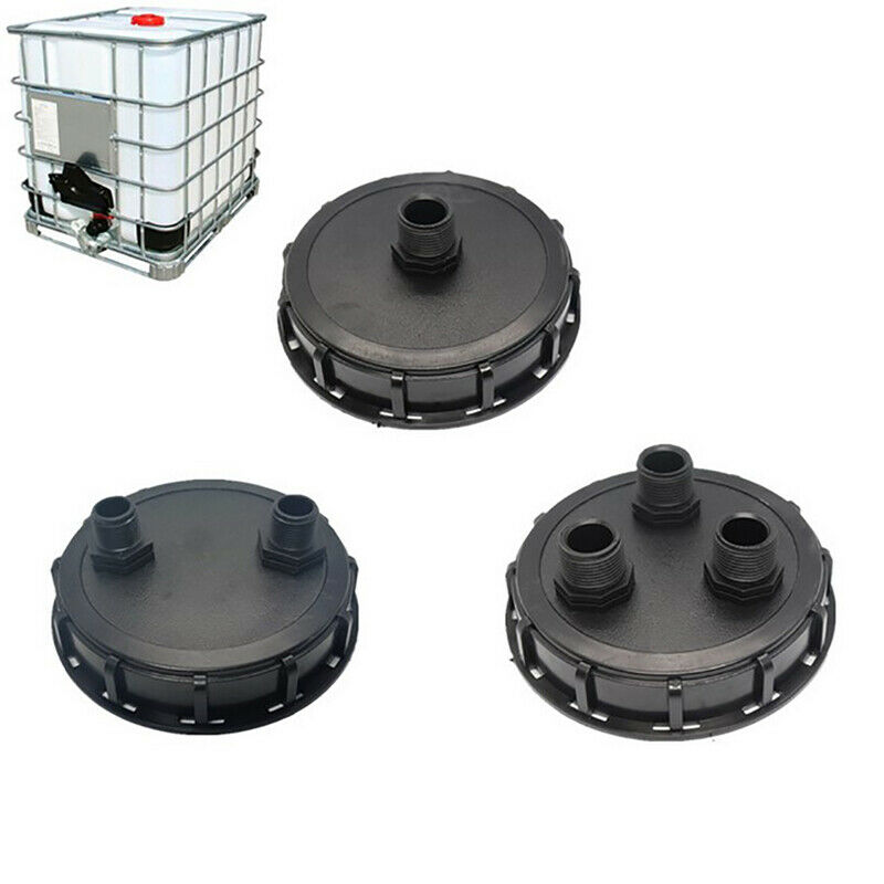 Plastic IBC Tank Lid with 1/2/3 Male Thread Hole Adapter Connector Fitting Pa TH