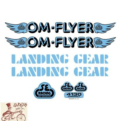 SE BIKES FLOVAL FLYER BLUE STICKERS DECAL SET