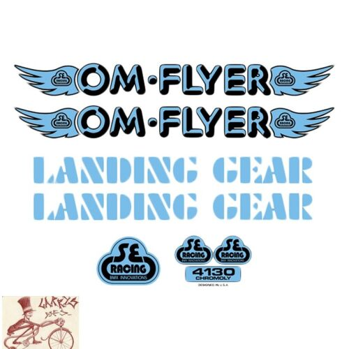 SE BIKES OM FLYER BLUE STICKERS DECAL SET