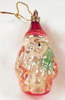 Vintage Santa Claus Christmas Ornament Mercury Glass Blown Tree 3 in, # 1