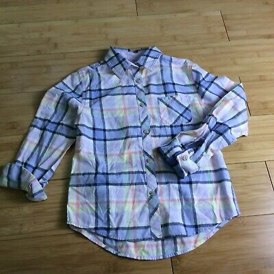 2 lot Cat and Jack long Sleeve casual plaid button up shirts XL 16