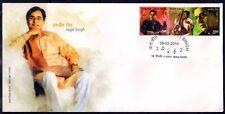 INDIA 30-01-2014-JAGJIT SINGH Se-tenant Pair F.D.C-Music-Singer-Film & Cinema