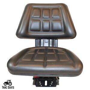 BLACK MASSEY FERGUSON 30E 40E 50E 390 398 399 WAFFLE TRACTOR SUSPENSION SEAT