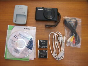 Canon Powershot S95 Digital Camera With Extra Batteries Charger And Accessories Ebay