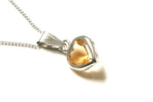 9ct-White-Gold-Citrine-Heart-Pendant-and-chain-Gift-Boxed-Necklace-Made-in-UK
