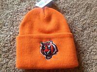 Cincinnati Bengals Orange Officially Licensed NFL Cuffed Toboggan Hat-BNWT's