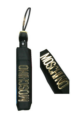 Premuroso Ombrello Openclose Nero Con Logo Metallico Dorato Art. 8110n - Moschino Ombrel