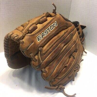 """New EASTON 12/"""" Softball Baseball Glove Pro Steerhide NE 12Y Natural Elite RHT"""