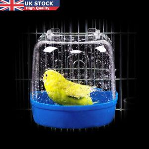 Bird-Water-Bath-Tub-For-Pet-Bird-Hanging-Bowl-Parrots-Parakeet-Birdbath-UK