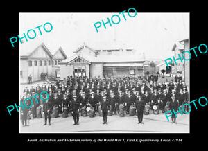 OLD-POSTCARD-SIZE-PHOTO-THE-SOUTH-AUSTRALIA-amp-VICTORIA-NAVY-SAILORS-WWI-c1914
