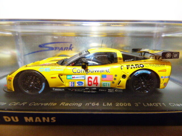 Spark Corvette C6-R Racing Le Mans 2008 LMGT 1 clase o Beretta o Gavin M Papis