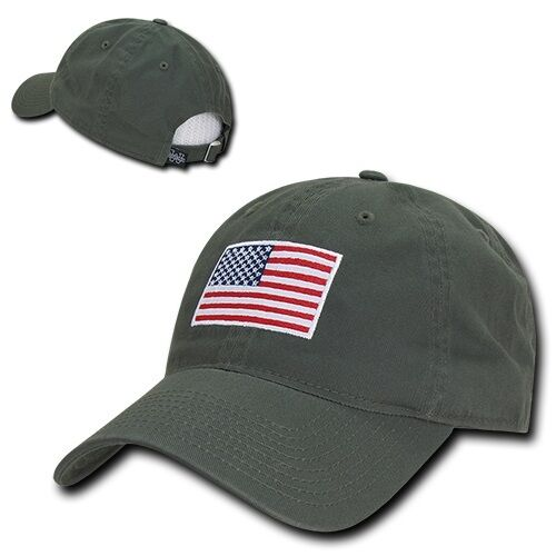 Buy Olive USA US American Flag Patch United States America Polo Baseball Hat  Cap online  e06de61a69d