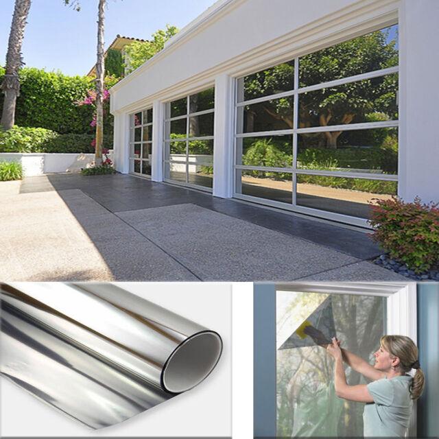 Silver One Way Mirror Privacy Solar Reflection 20 Window Film 50cm X 2m For Sale Online Ebay