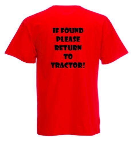Volver a Tractor Hombre Negro O Blanco Funny Fruit Of The Loom Cuello Redondo T Shirt