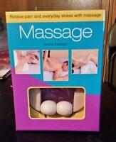 Massage Joanna Trevelyan Book, Sound Cd, & Massage Roller Health Fitness