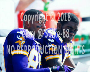 67aea6be CRIS CARTER #80 & RANDY MOSS #84 MINNESOTA VIKINGS HALL OF FAMERS ON ...