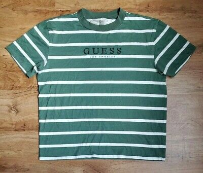 NEW O/'STIN MANS WHT//GRY//GRN T-SHIRT LOS ANGELES LOGO//PICTURE ACROSS FRONT SZ XL
