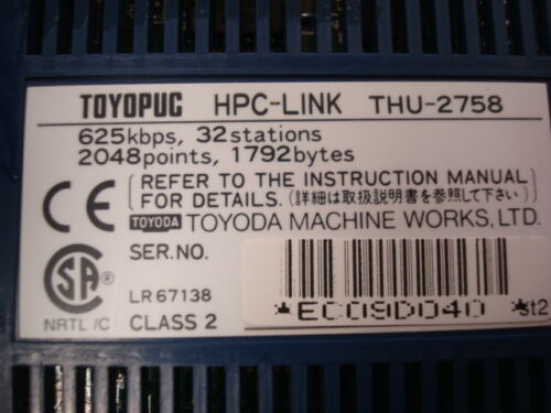 USED Toyoda Toyopuc THU-2758 HPC-Link High Speed PC Link Module