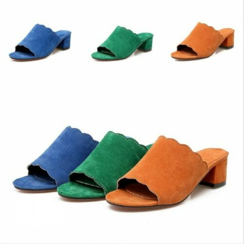 Women Sandals Slingbacks Faux Suede 9cm High Heel Ankle Strap Buckle Shoes Date